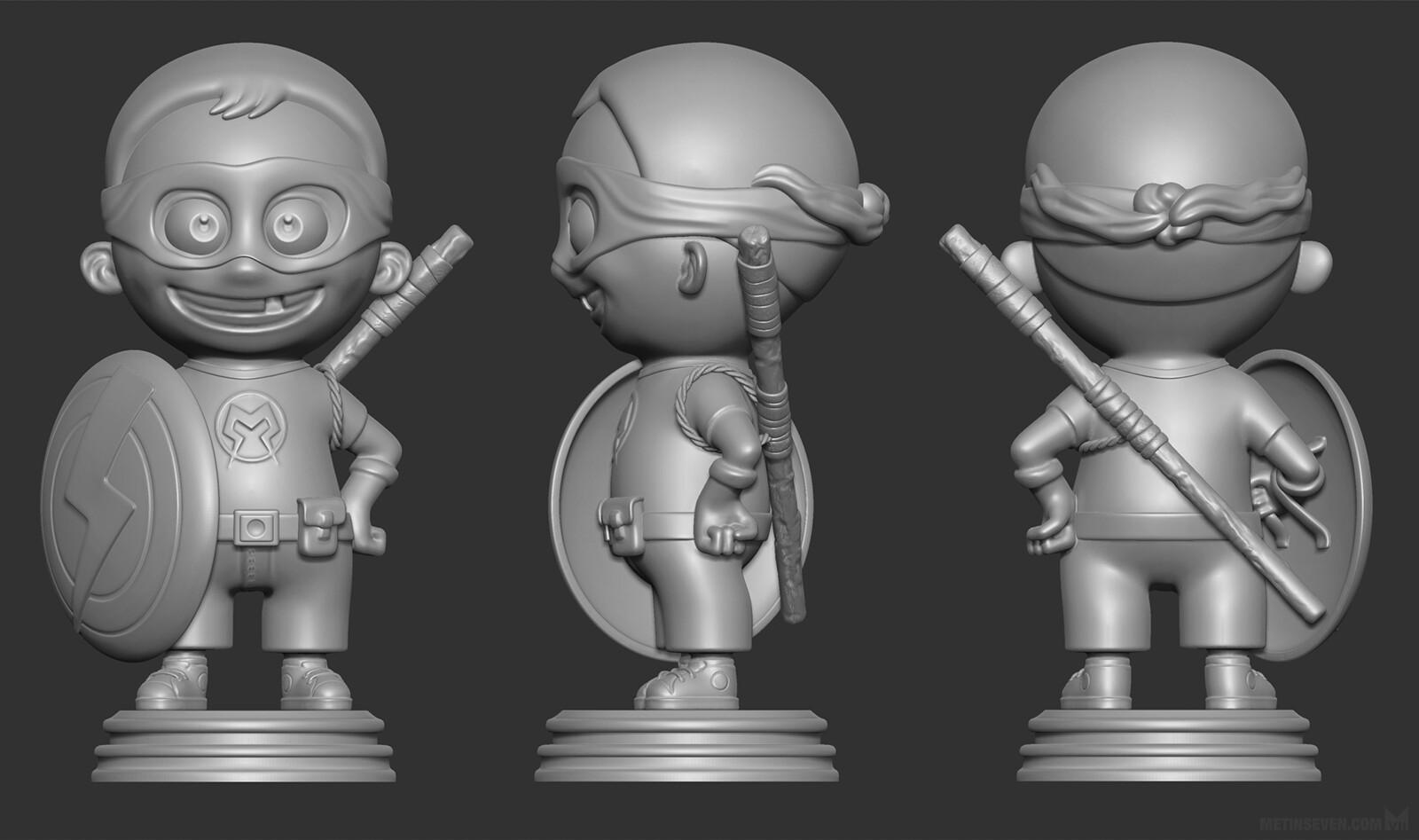 Superson, 3D print model for a father | Concept: Paul Rozenbeek