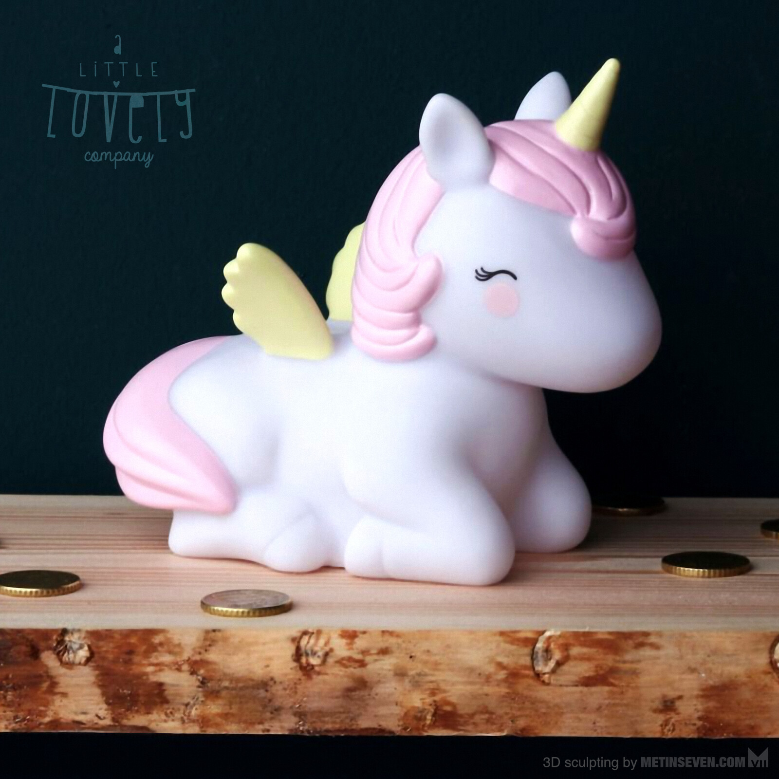 3D sculpting of a unicorn money-box for A Little Lovely Company