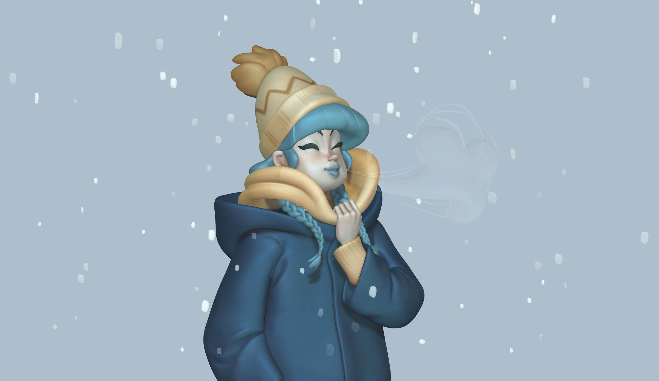 Blue Winter | schmoedraws | Study 01