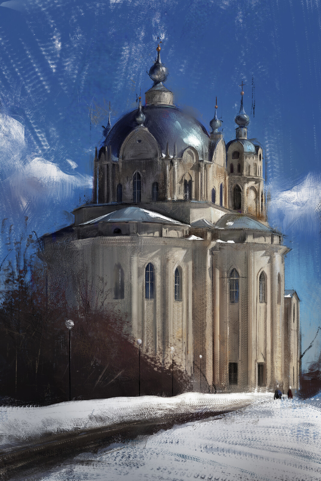 Two story trinity church in Moscow