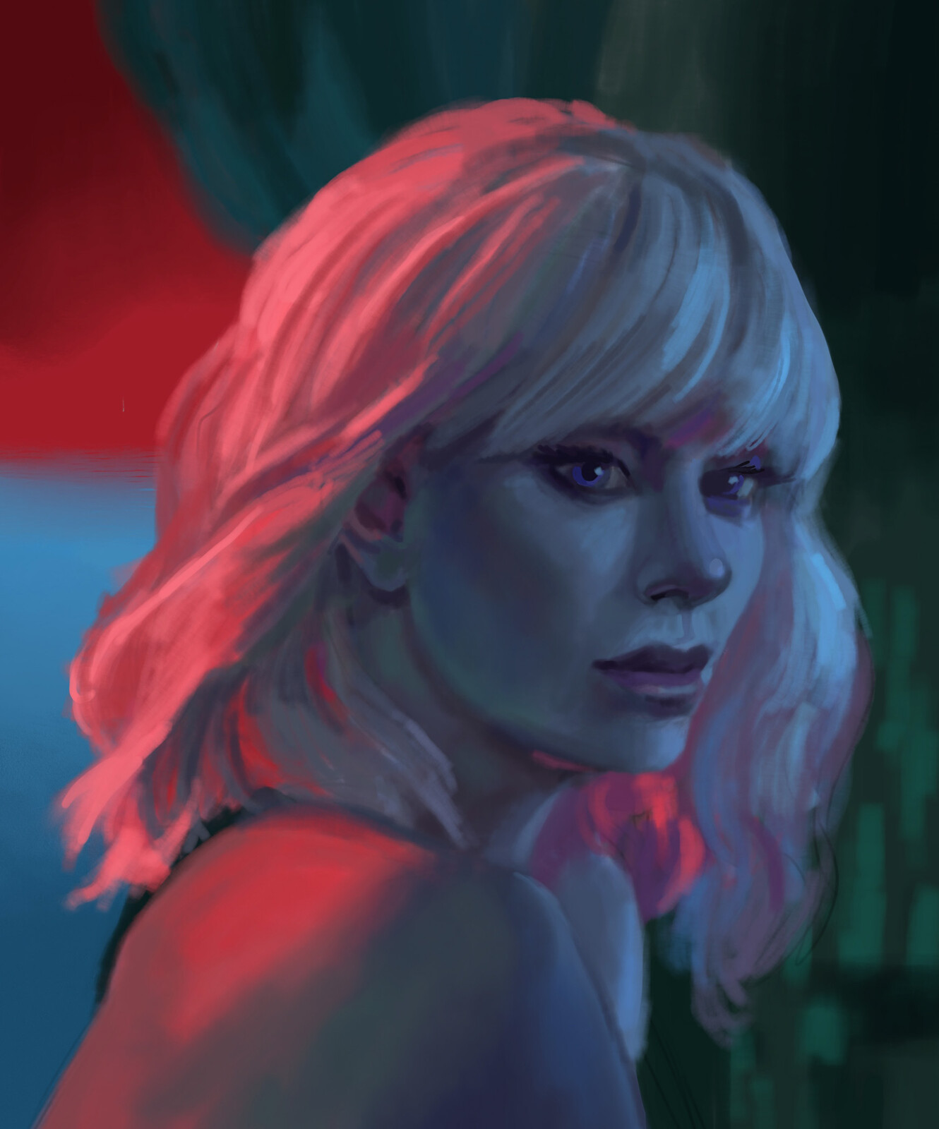 "Charlize Theron from ""Atomic Blonde"""
