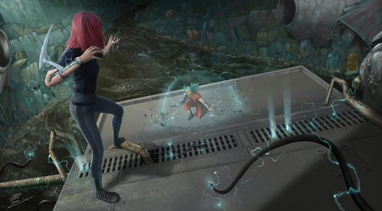 Challenge 12- Digital Painting .School : Cyberpunk 2077