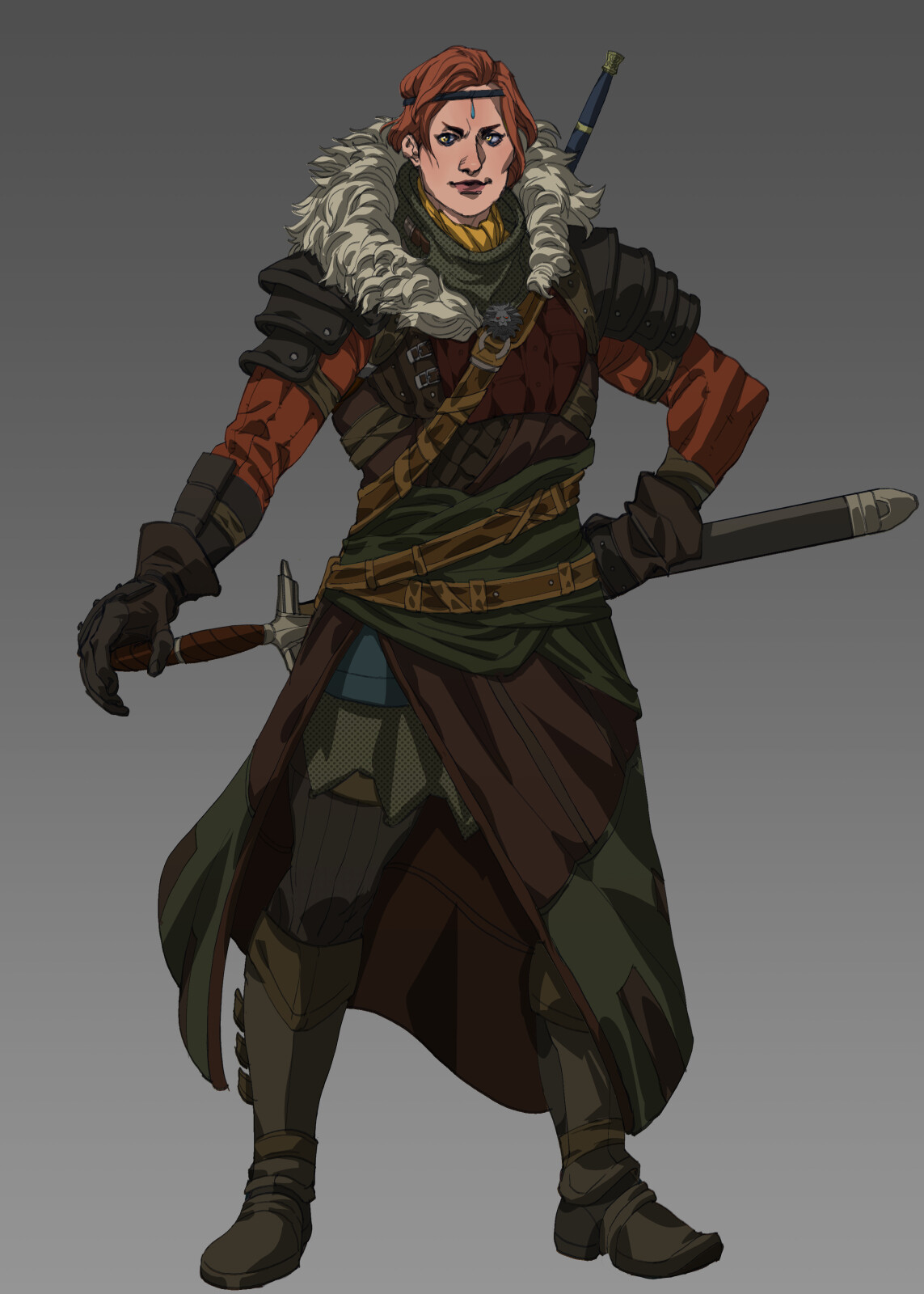 Tamlin from the school of the lion. She was among the first of her school to join the battlefield against an invading force that used monsters in its conquests.