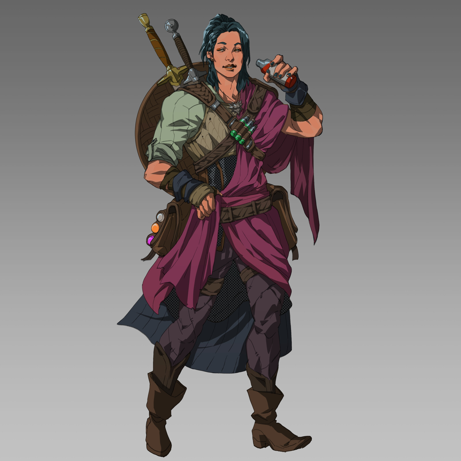 Lan from the school of the crane. A potion specialist who has made her way west in search of the most potent ingredients and the finest wines. She has kept a wolf medallion from a fallen witcher she met on her travels.