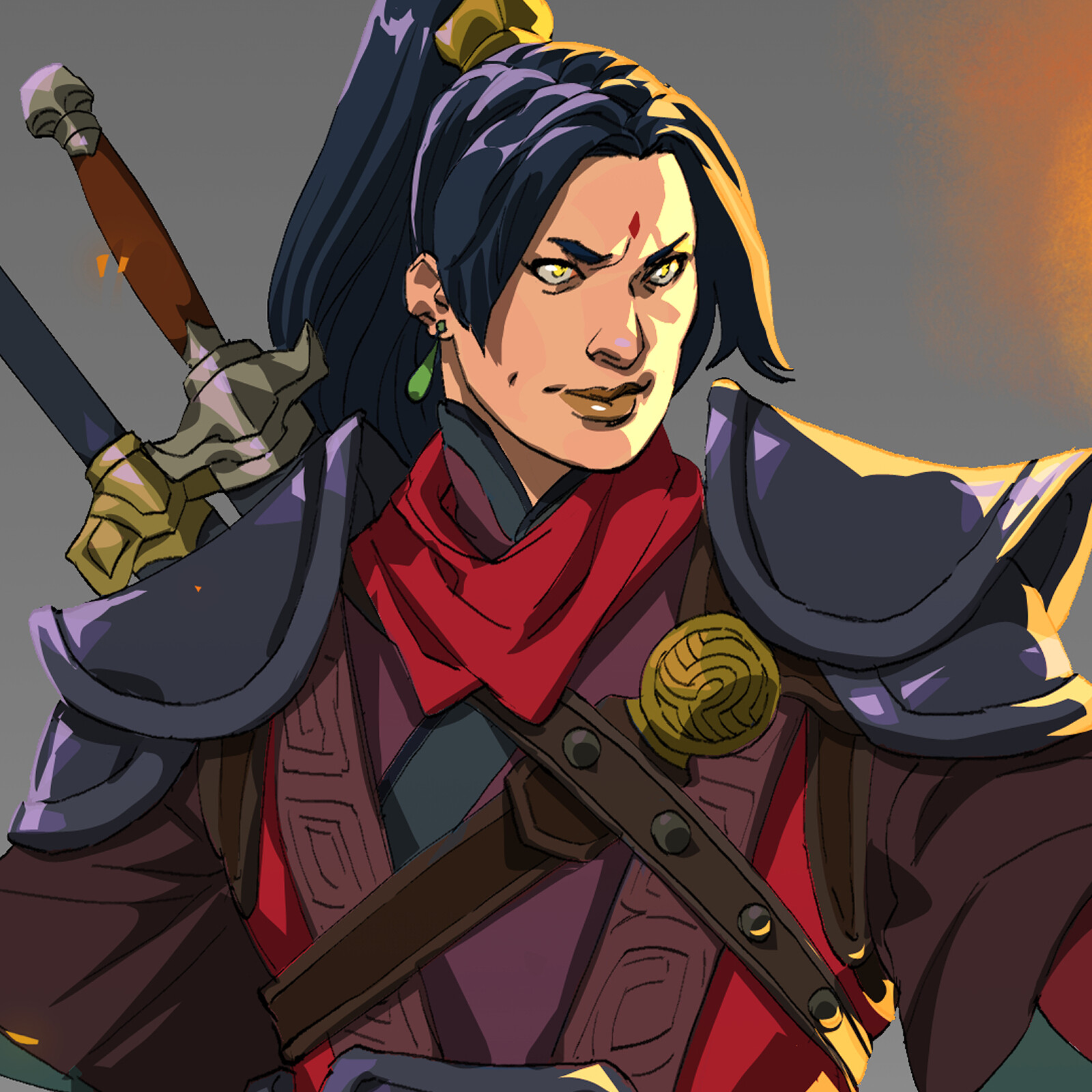 Suyin, the magic specialist from the school of the crane who pioneered the use of compounded signs in unarmed combat.