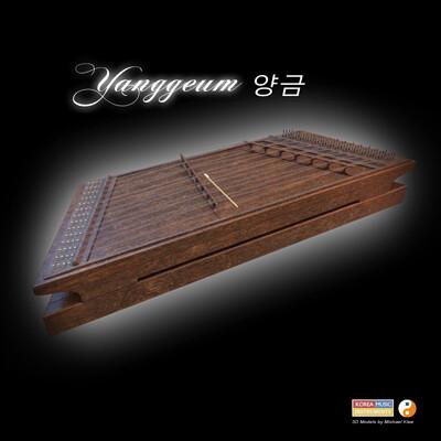 Michael klee yanggeum korea music instrument 3d model by michael klee