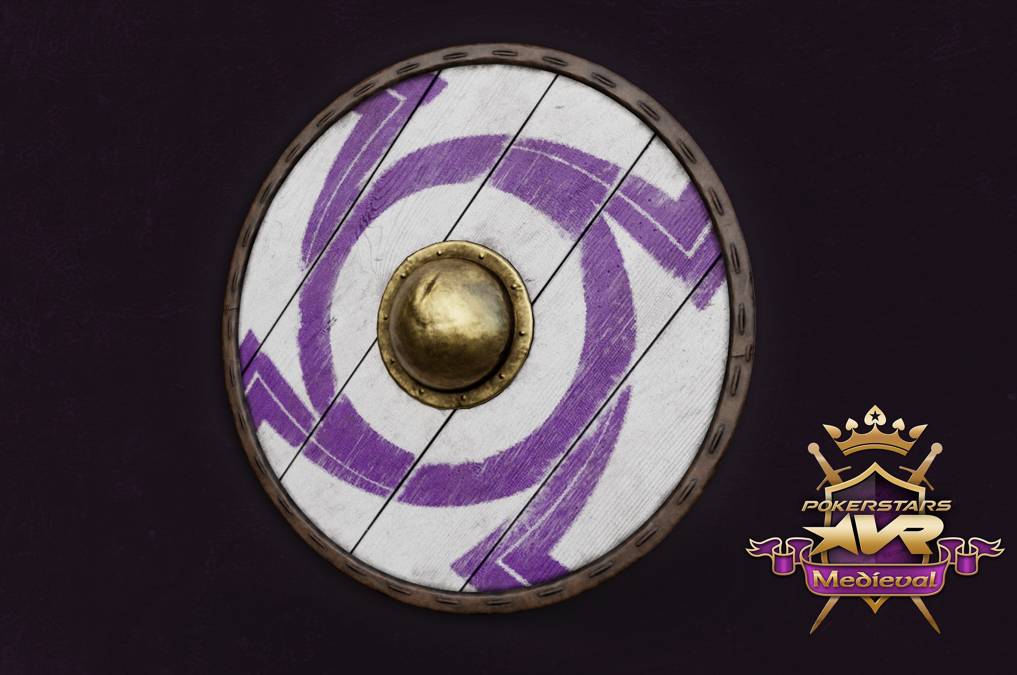 Round Shield with a custom reskin for Medieval Pack purchasers.