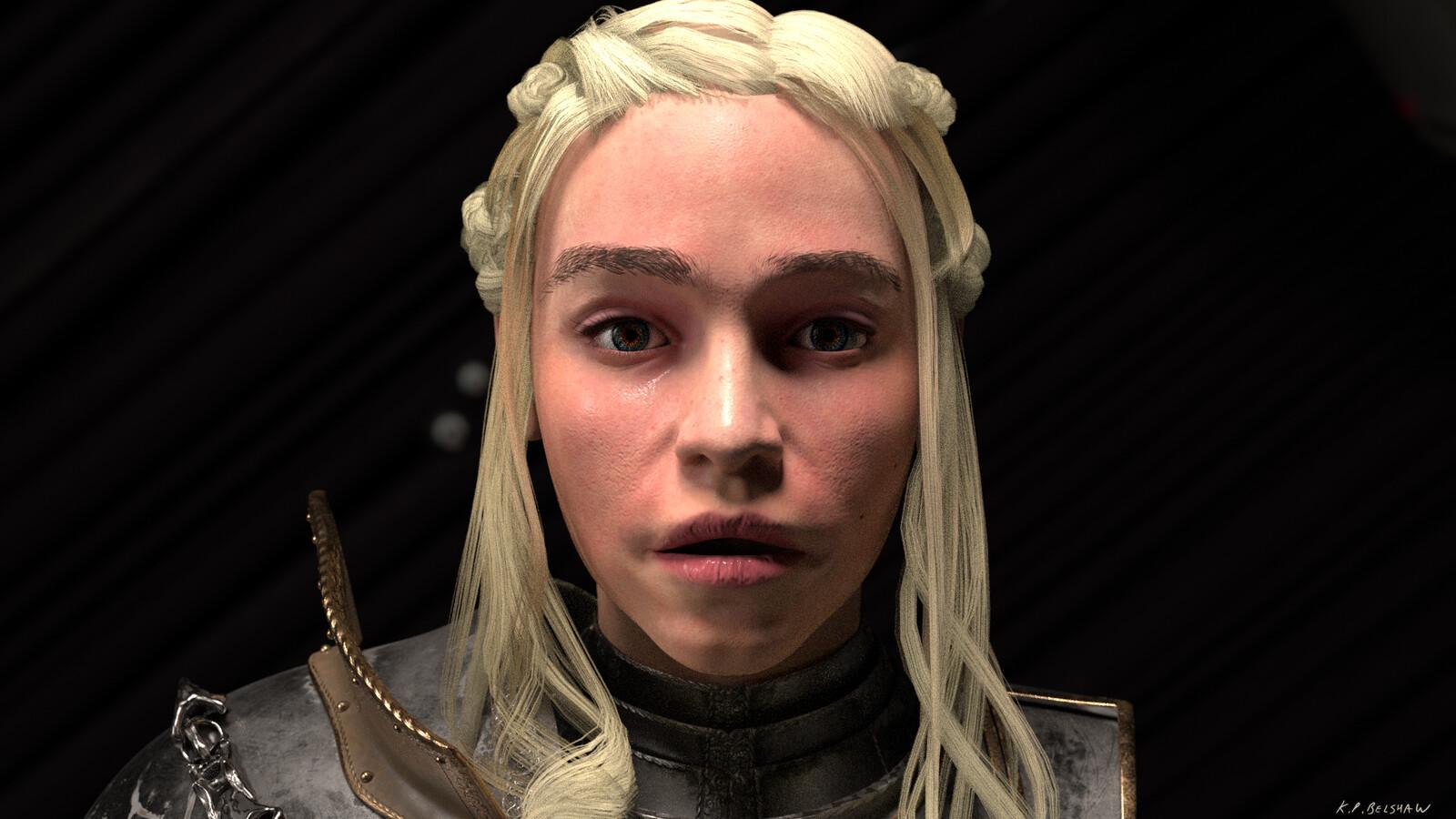 Face closeup