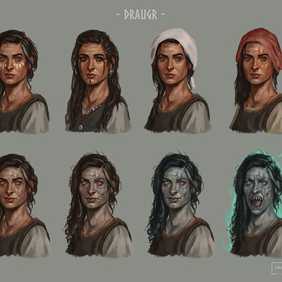 Draugr Villager Concepts
