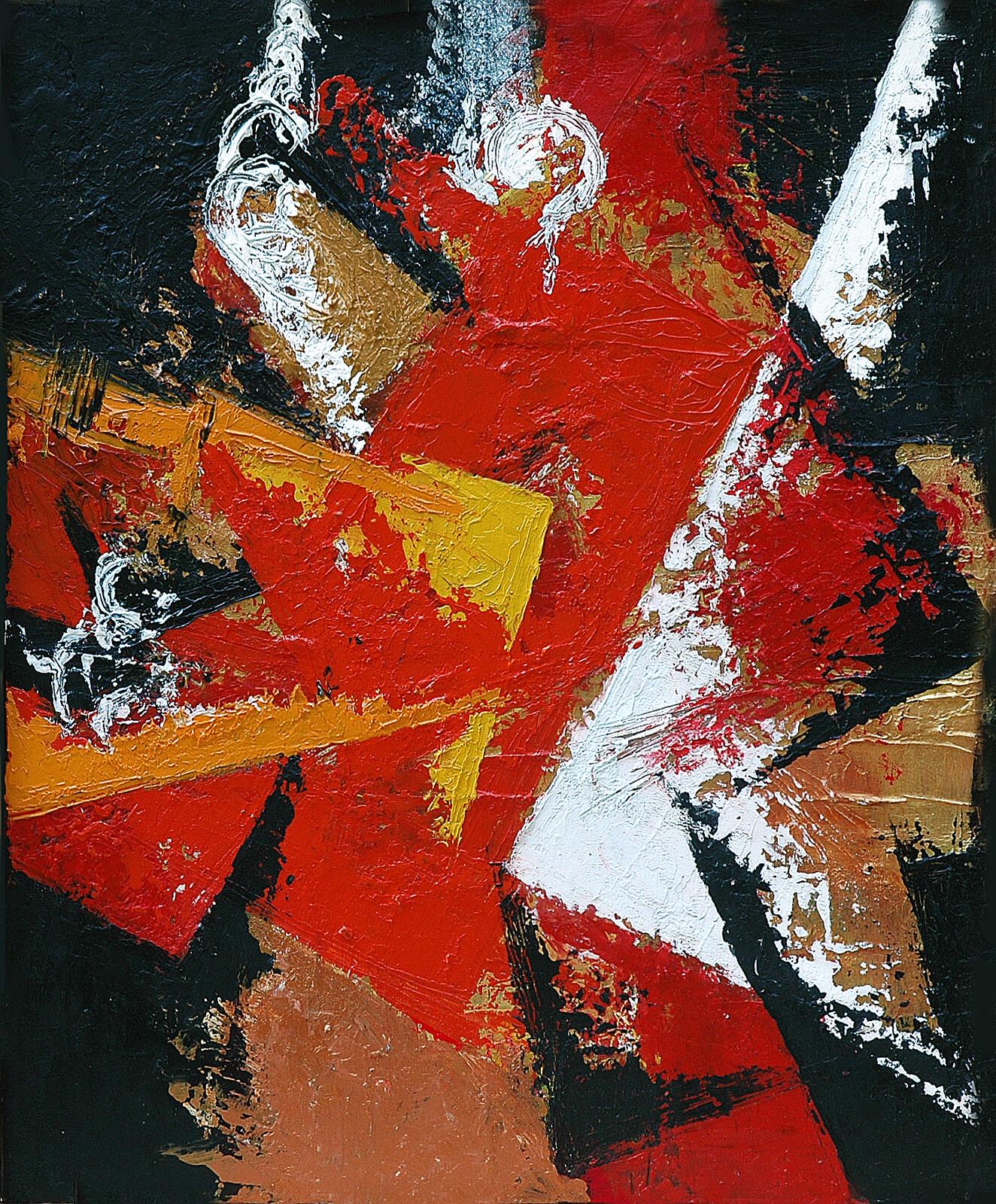 TRITTICO II Mutazione 50 x 60 acrylic oil plaster on canvas