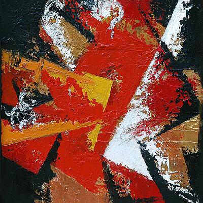 Daniele bontumasi muta azione trittico ii 50x60cm