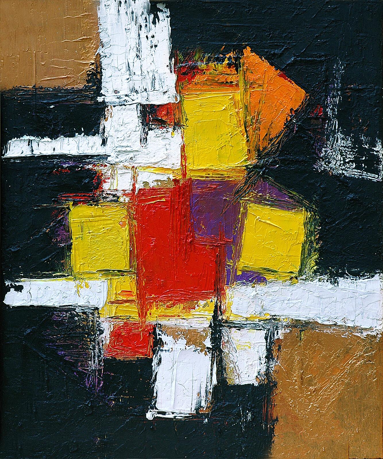 TRITTICO III Mutazione 50 x 60 acrylic oil plaster on canvas