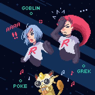 Alex illustration xqc team rocket 2