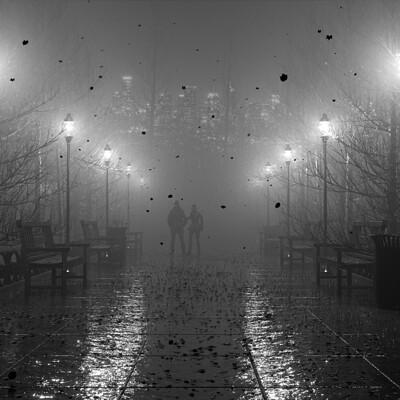 Art amin black and white