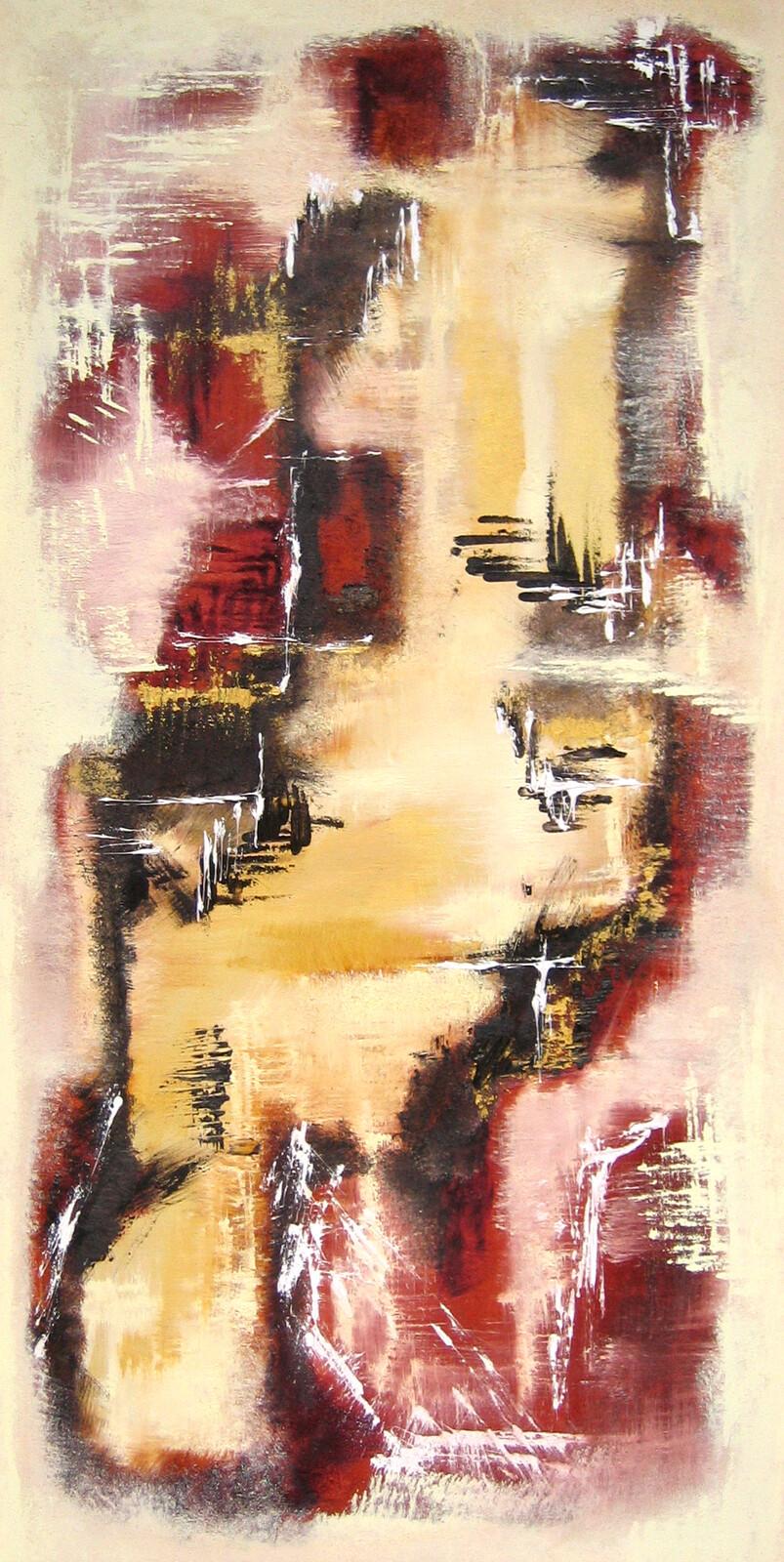 Entropia IV 80 x 120 oil marble powder on canvas