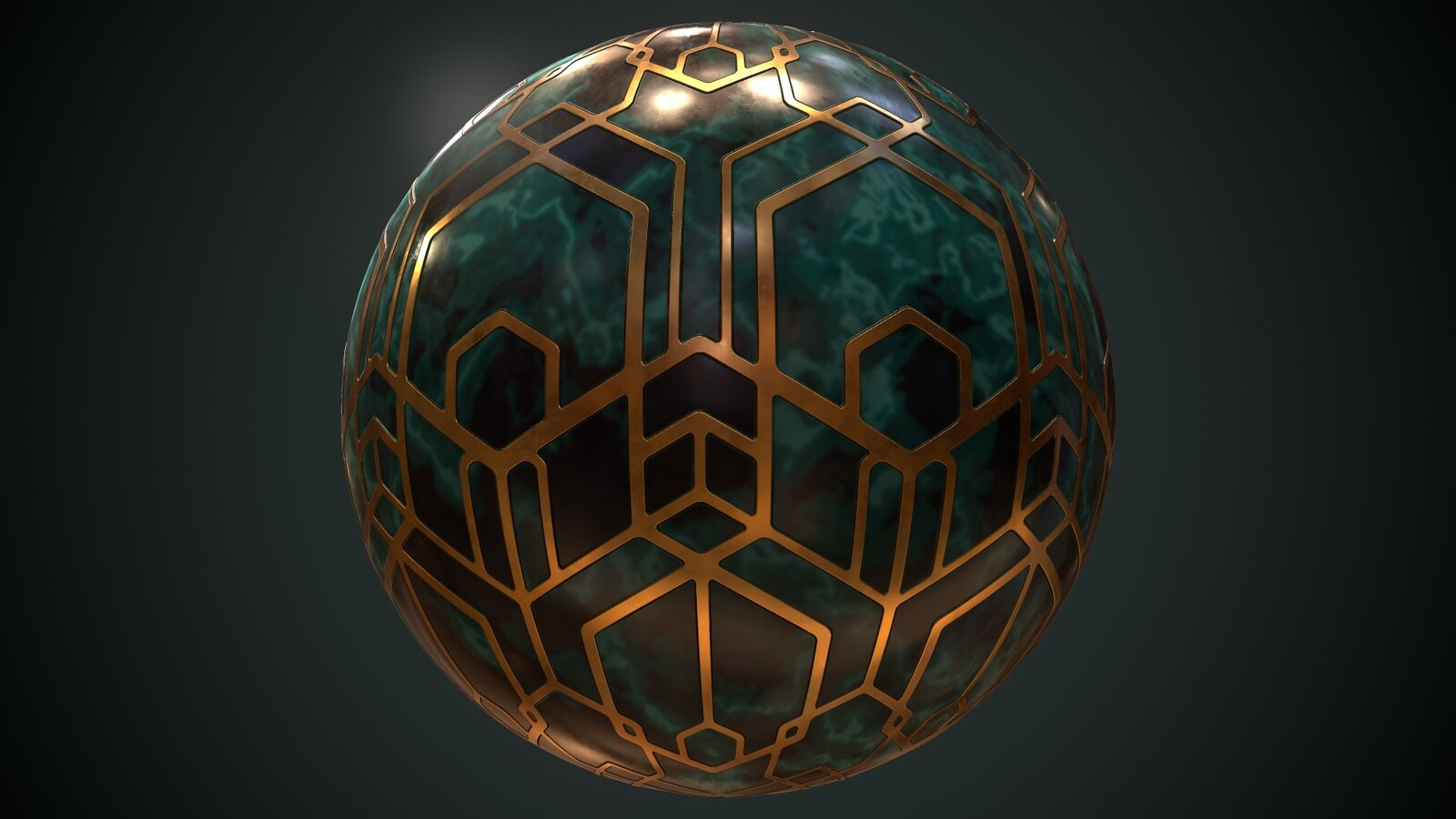 Art Deco inspired Design Matball
