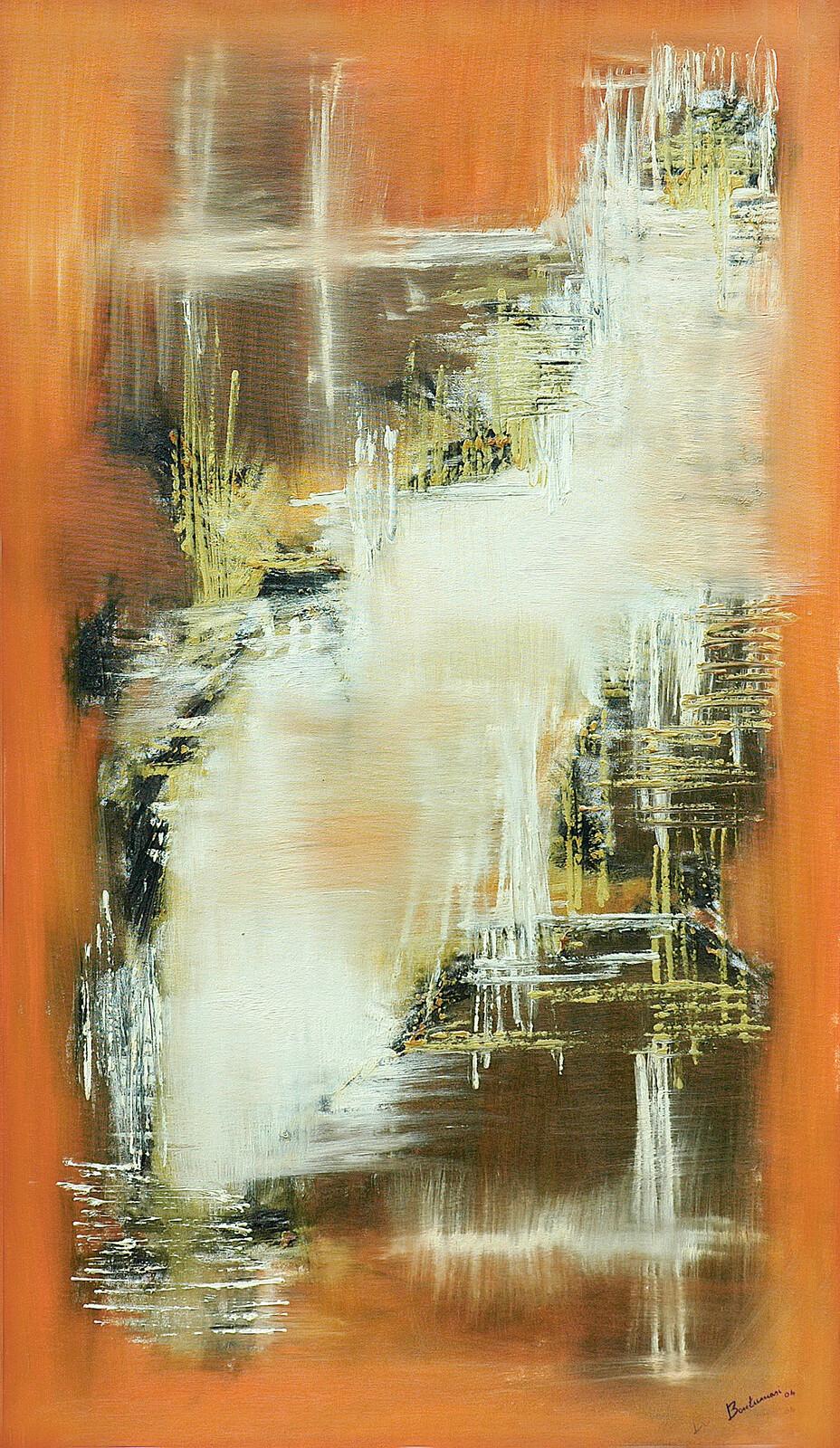 Nefertari 70 x 120 oil acrylic on canvas