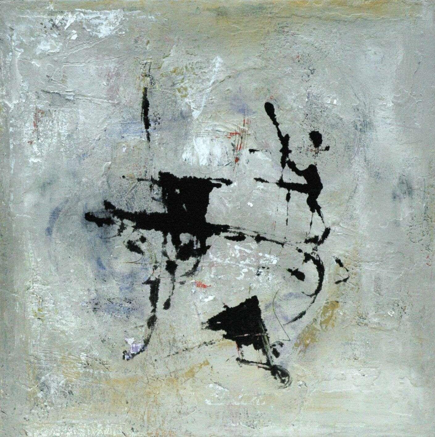Ichinen 50 x50 oil plaster varnish on canvas