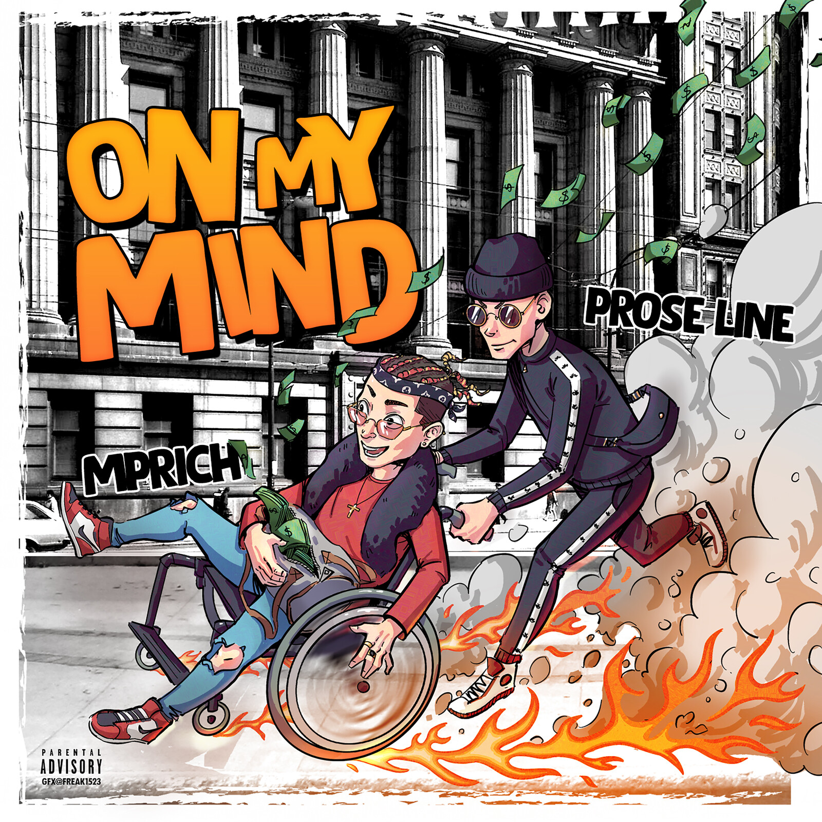Album Cover collaboration -  On My Mind by PRØSE LINE feat MPRICH