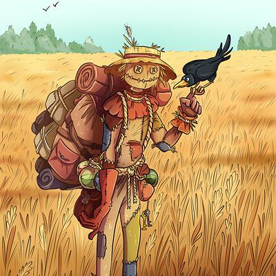 Oixxo art 2020 12 21 scarecrow