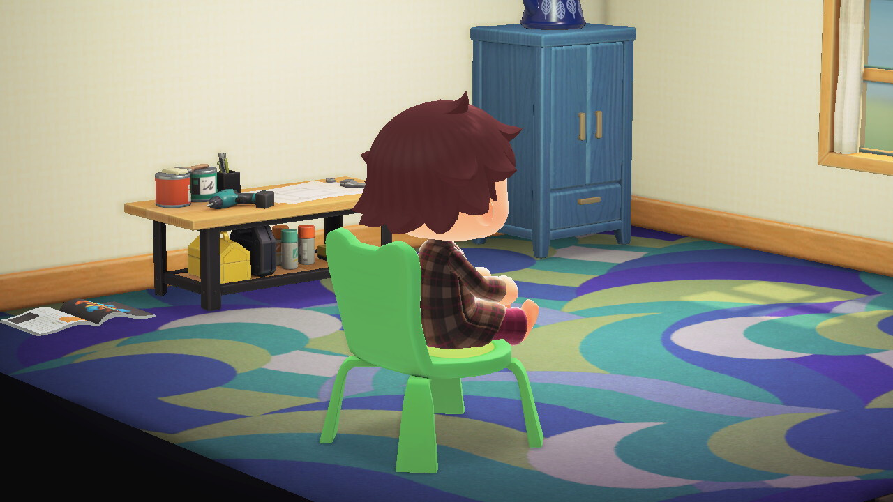 Screenshot of the chair in Animal Crossing: New Horizon's Engine