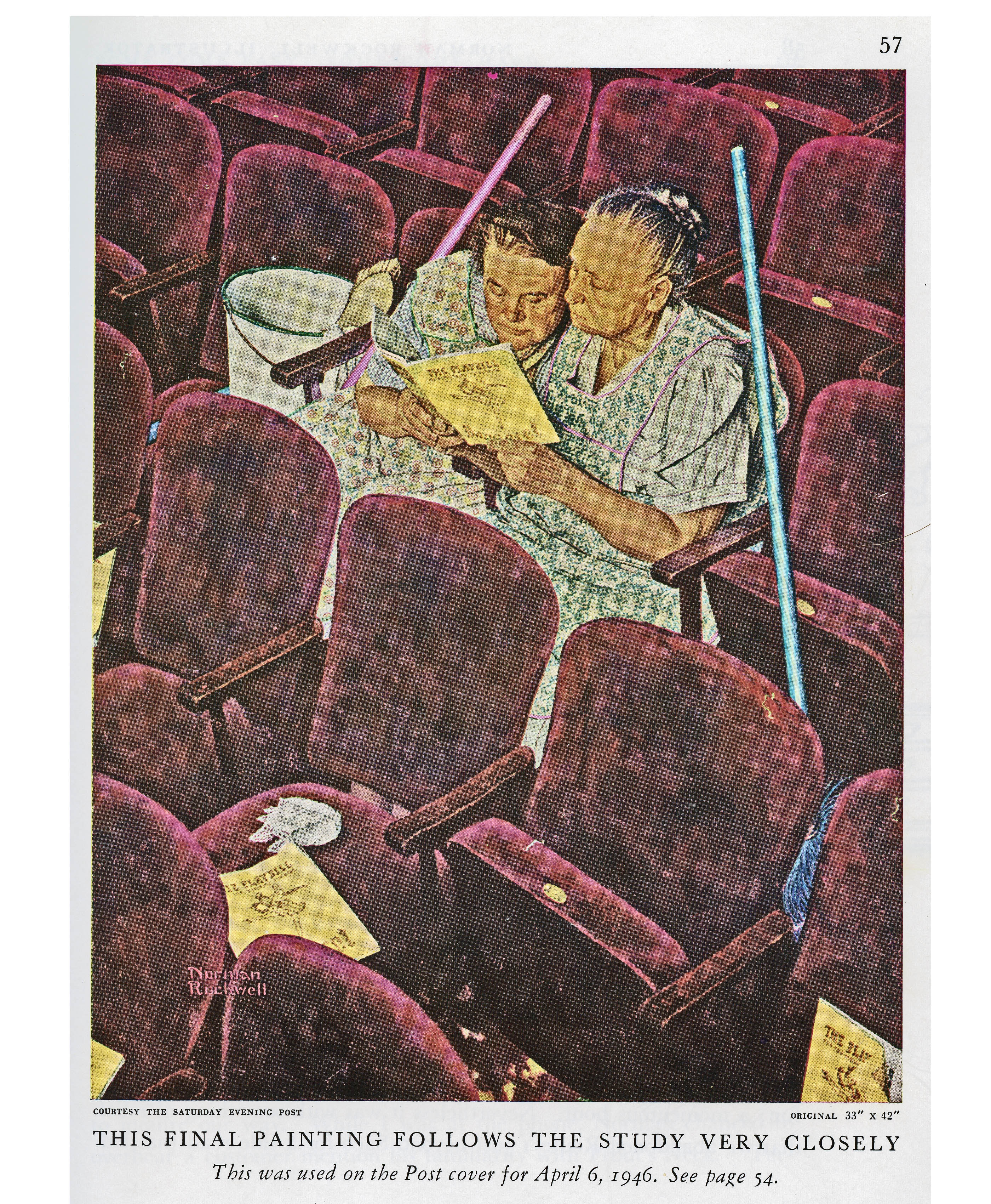 Norman Rockwell template on a 14x17 inch page