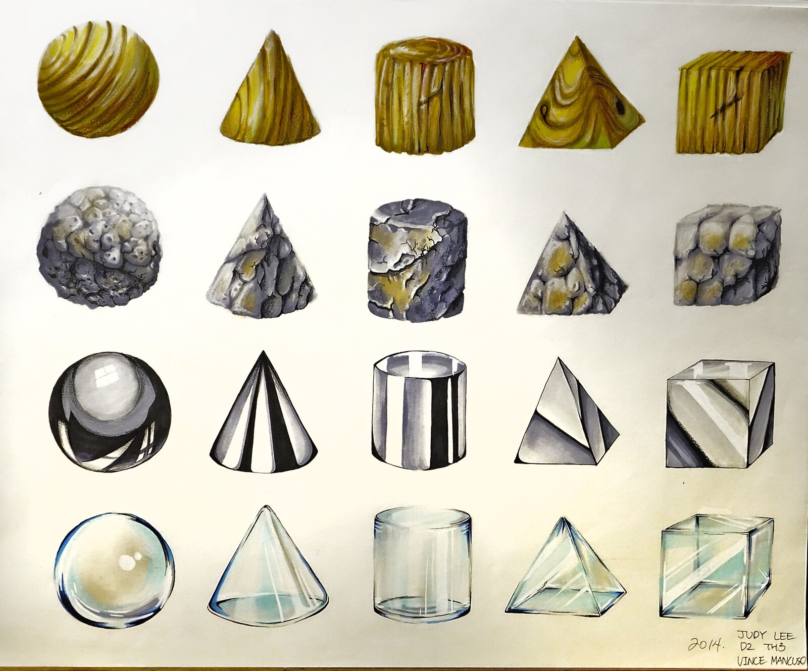 Project 10: All forms in chrome, glass, stone and wood.
