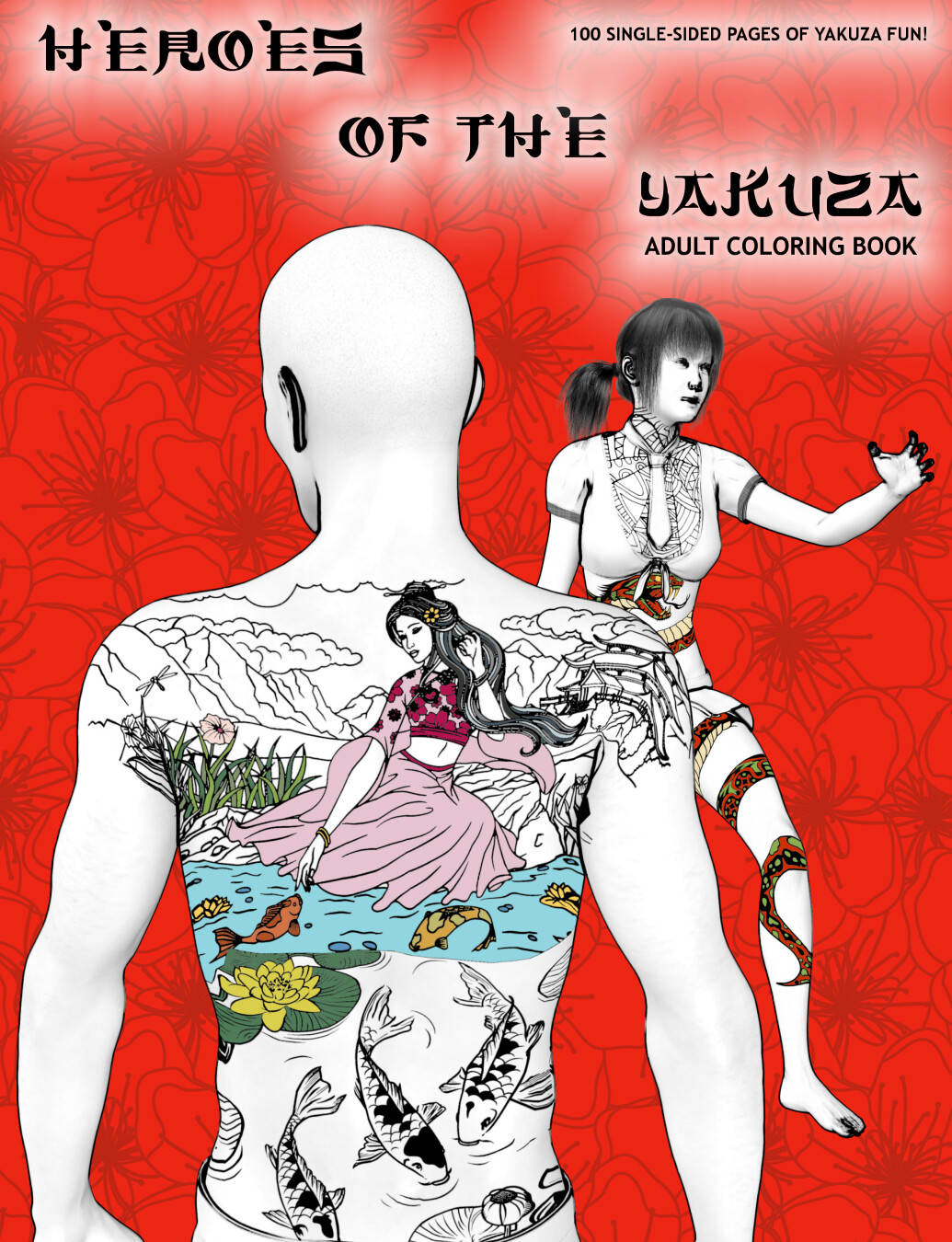 Heroes of the Yakuza Adult Coloring Book