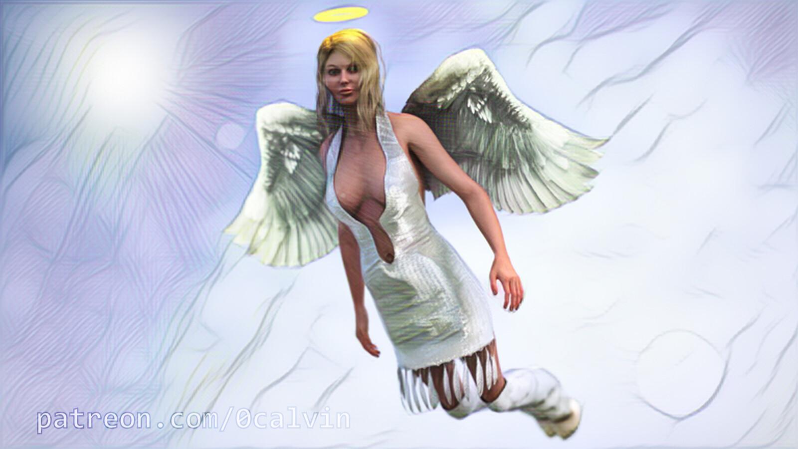 Phoebe Angel Watercolor