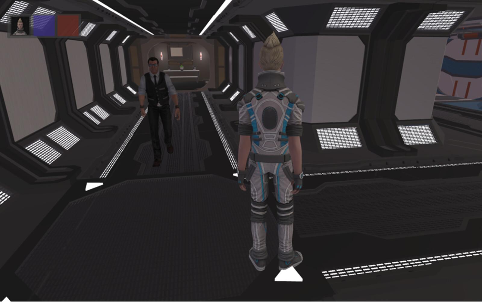 High-tech prison and NPC guard