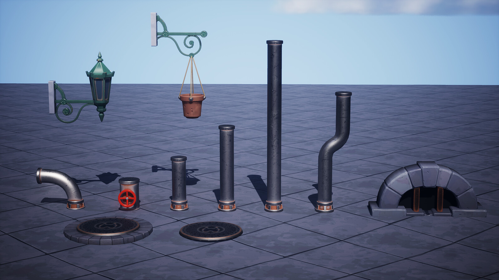 More Street Assets and pipe set.