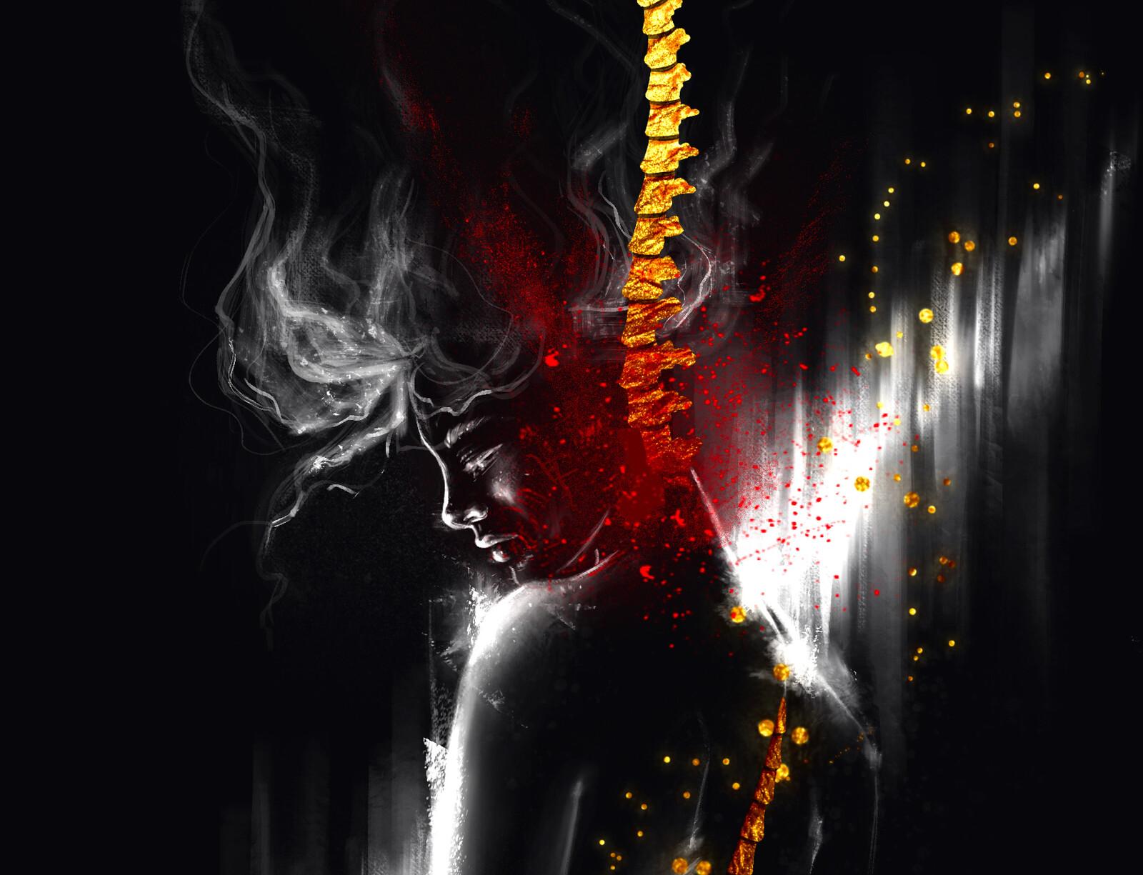 Illustration // Golden Spine