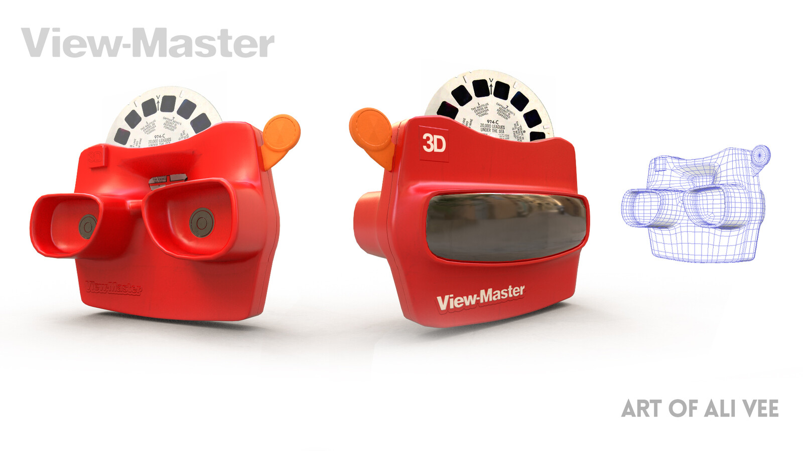 Viewmaster, a 3D rendition of a toy I used to have as a child :)  Created via Maya x Substance Painter