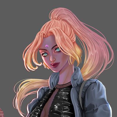 Character design - style Cyberpunk
