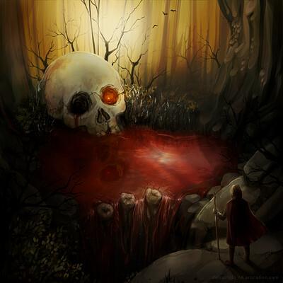 Lourdes del castillo environmentconcept skullcave delcastilloh6