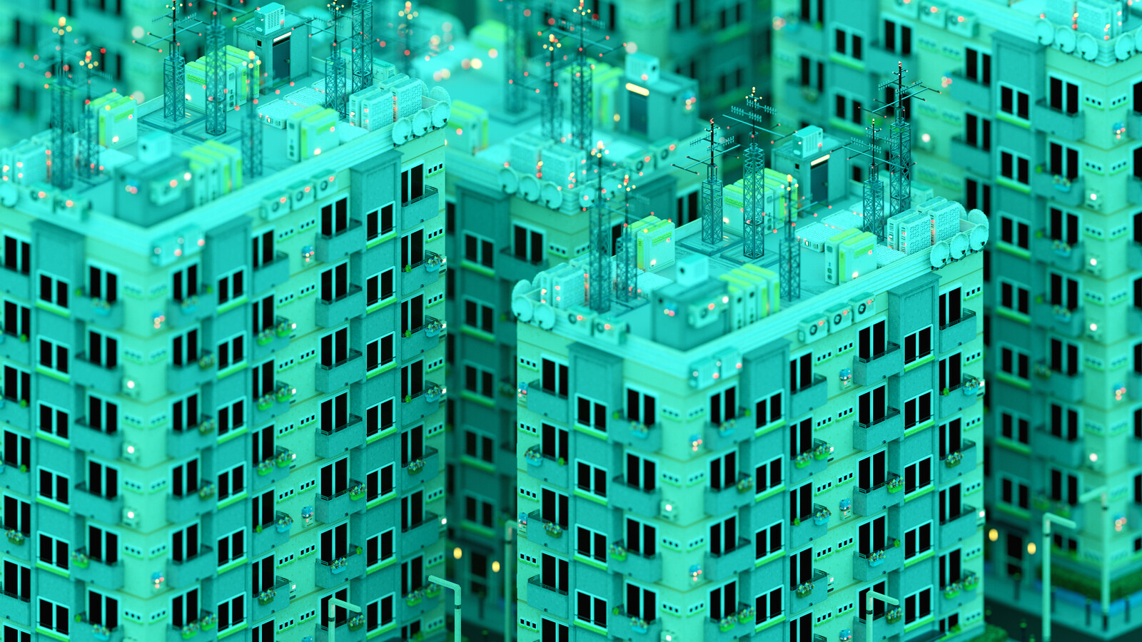 Voxel Game Project - Skyscraper n°2 - Day