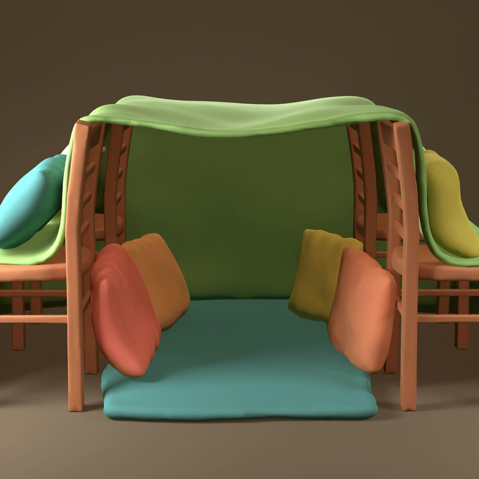 Pillow Fort - SculptJanuary2021, day 13