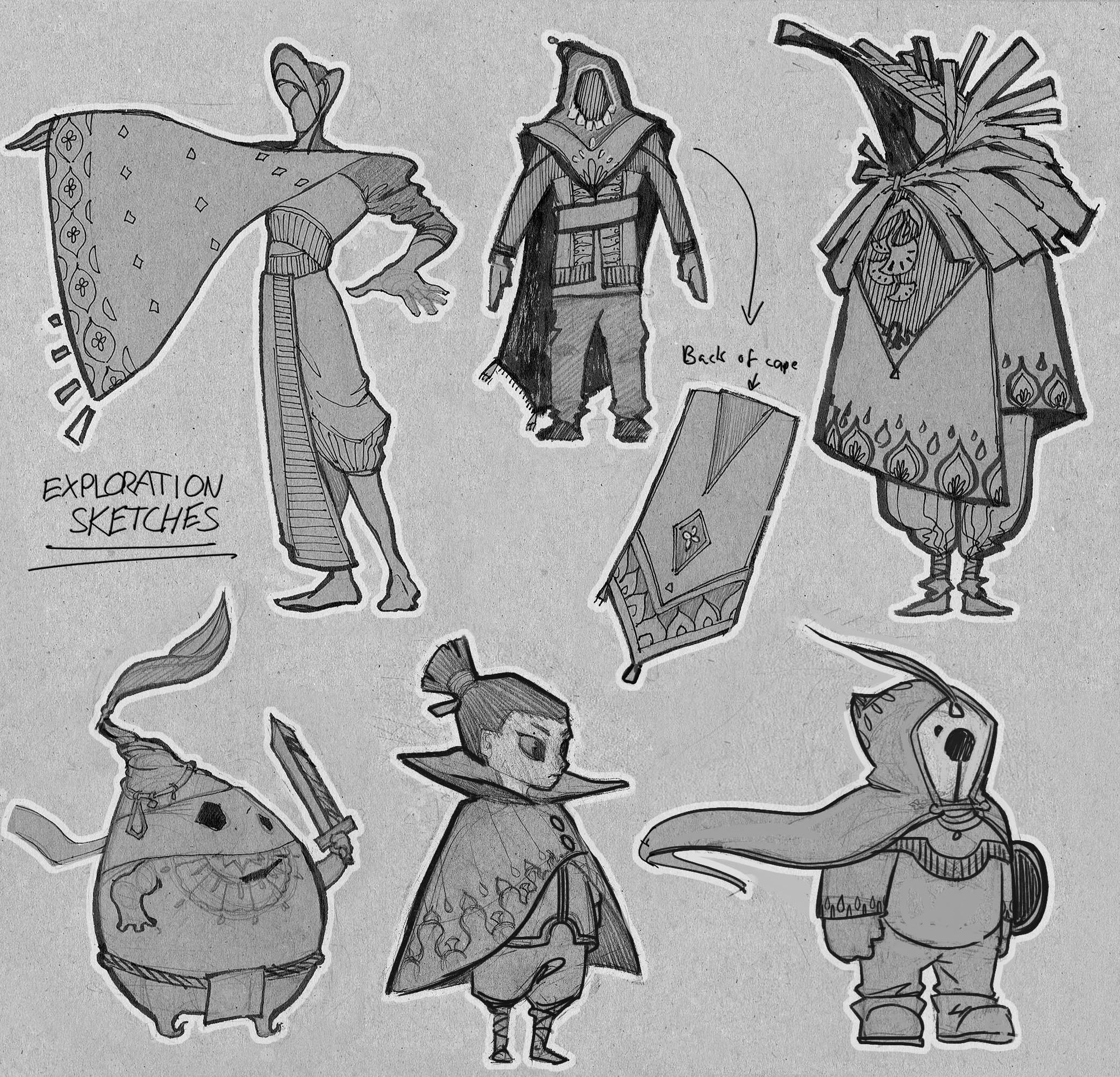 1st round sketches