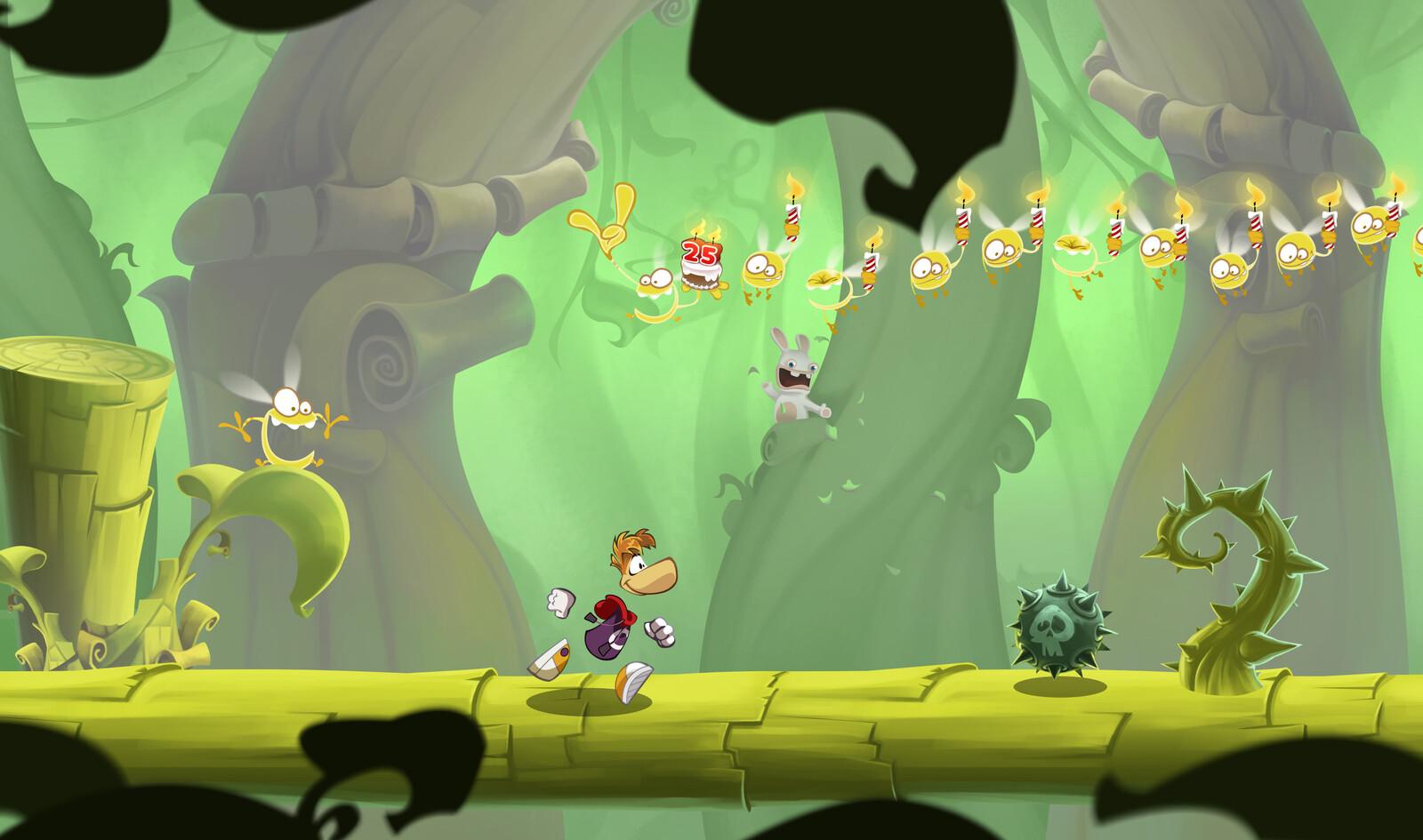 Création de décors pour l'univers coloré de Rayman