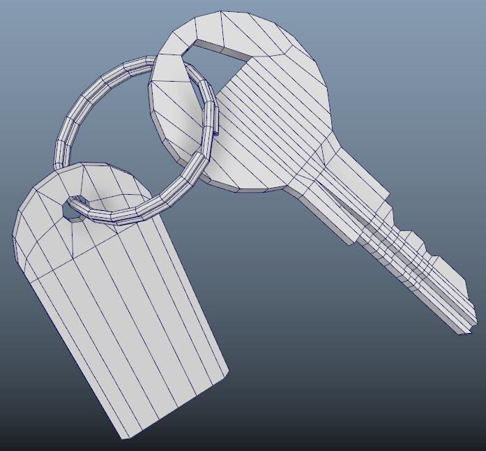 Key wireframe