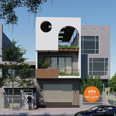 Neohouse architecture mau nha pho 3 tang dep hien dai mat tien 6m 1