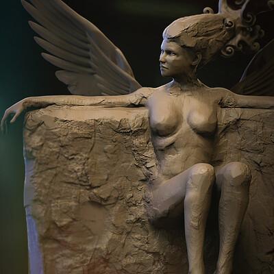 Surajit sen sorceress2 2 digital sculpture surajitsen jan2021 l
