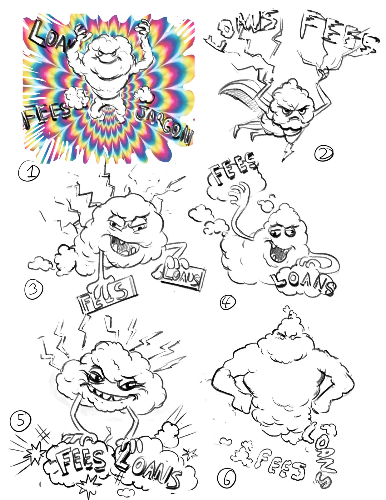 Early Brainstorm sketches 01