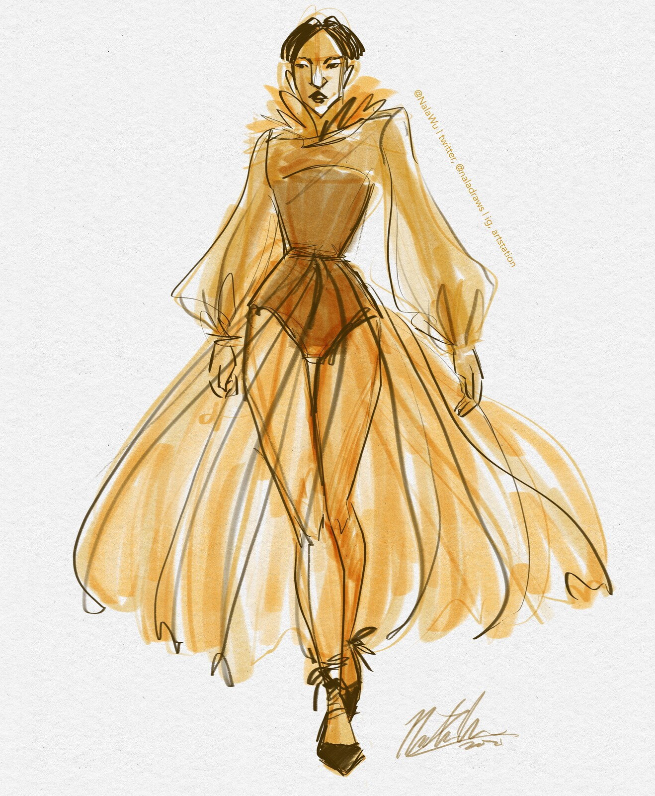 Fashion Sketch Warmup Collection