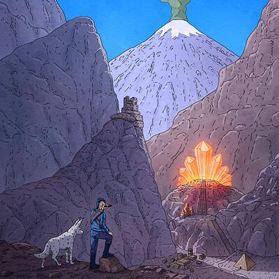 Graphic Novel Illustration, Crystal Temple