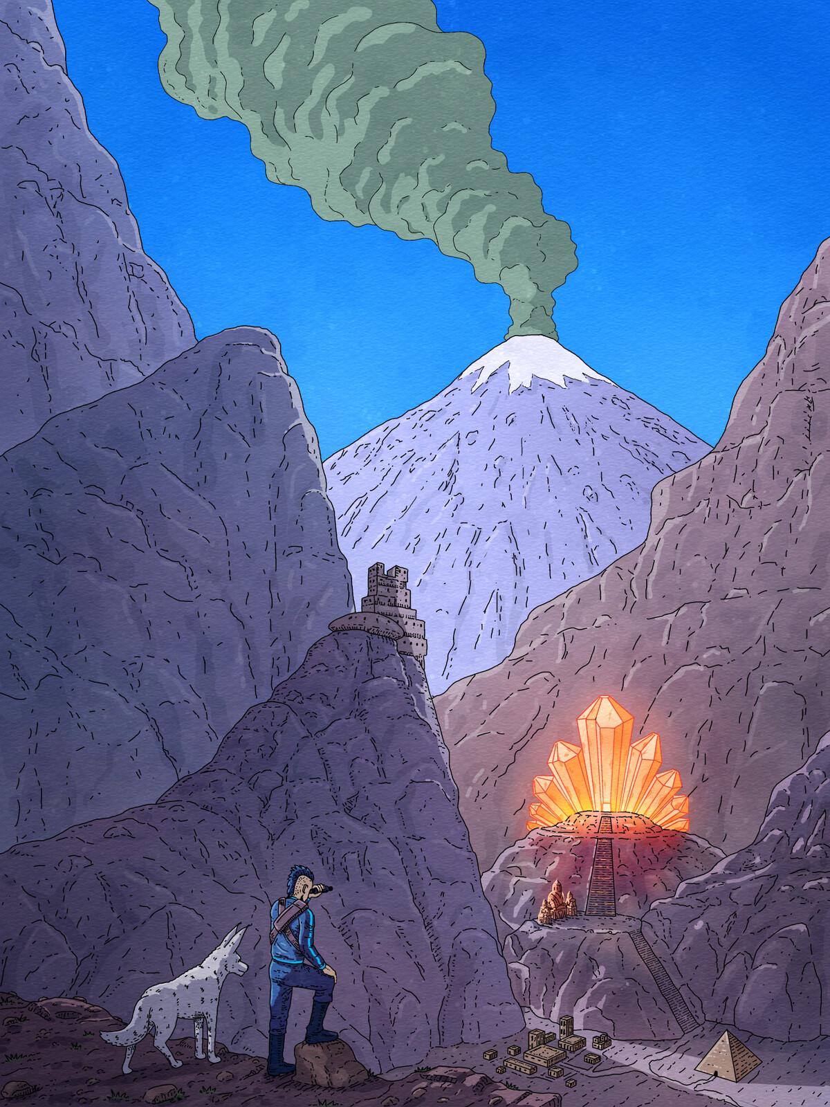 Sci-fi Illustration for graphic novel