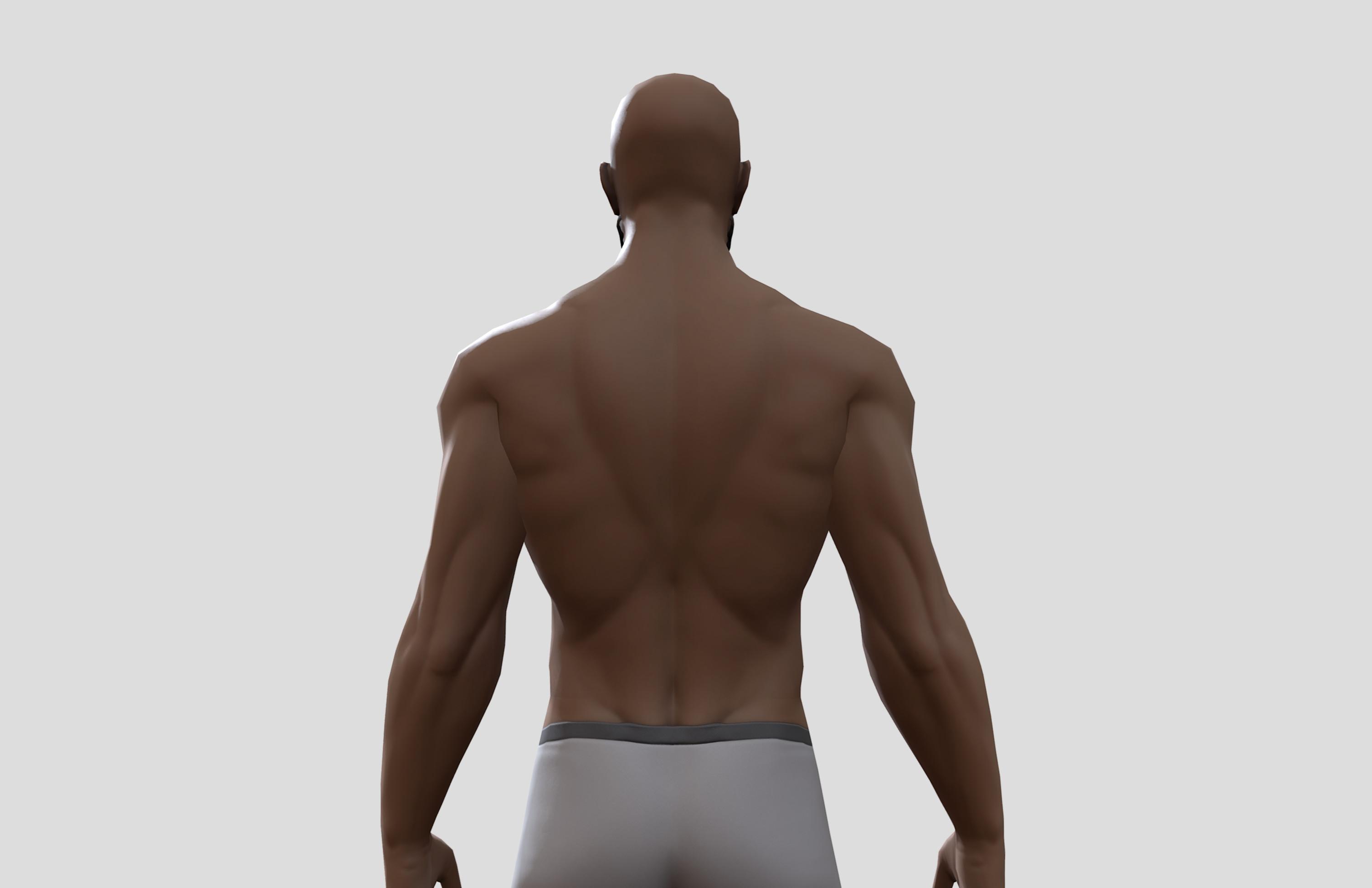 basemesh character back
