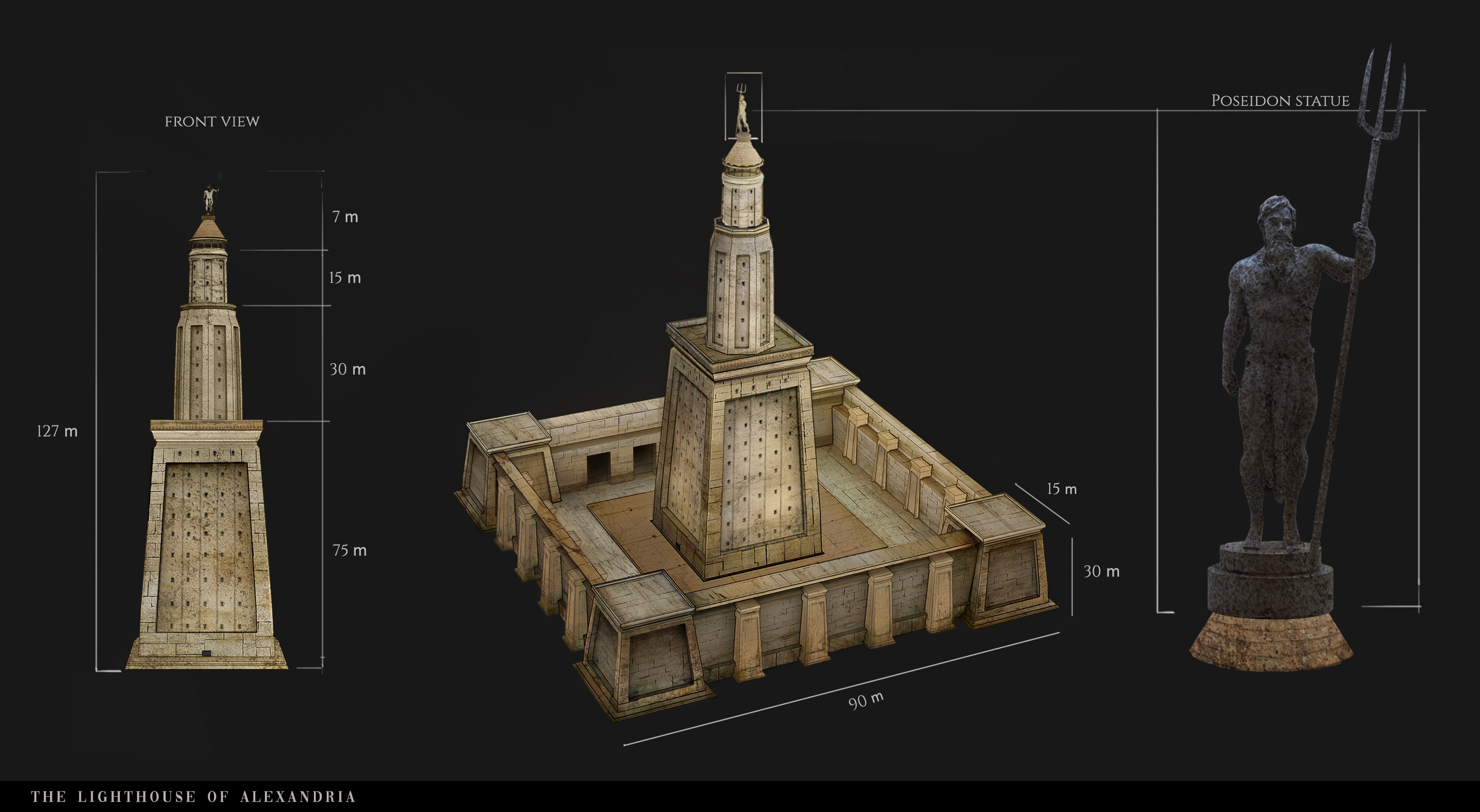 The Lighthouse of Alexandria architecture design