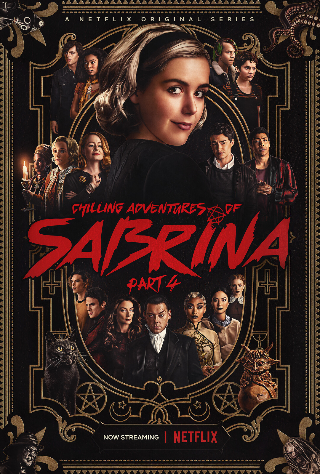 Illustrated poster for Chilling Adventures of Sabrina Season 4.