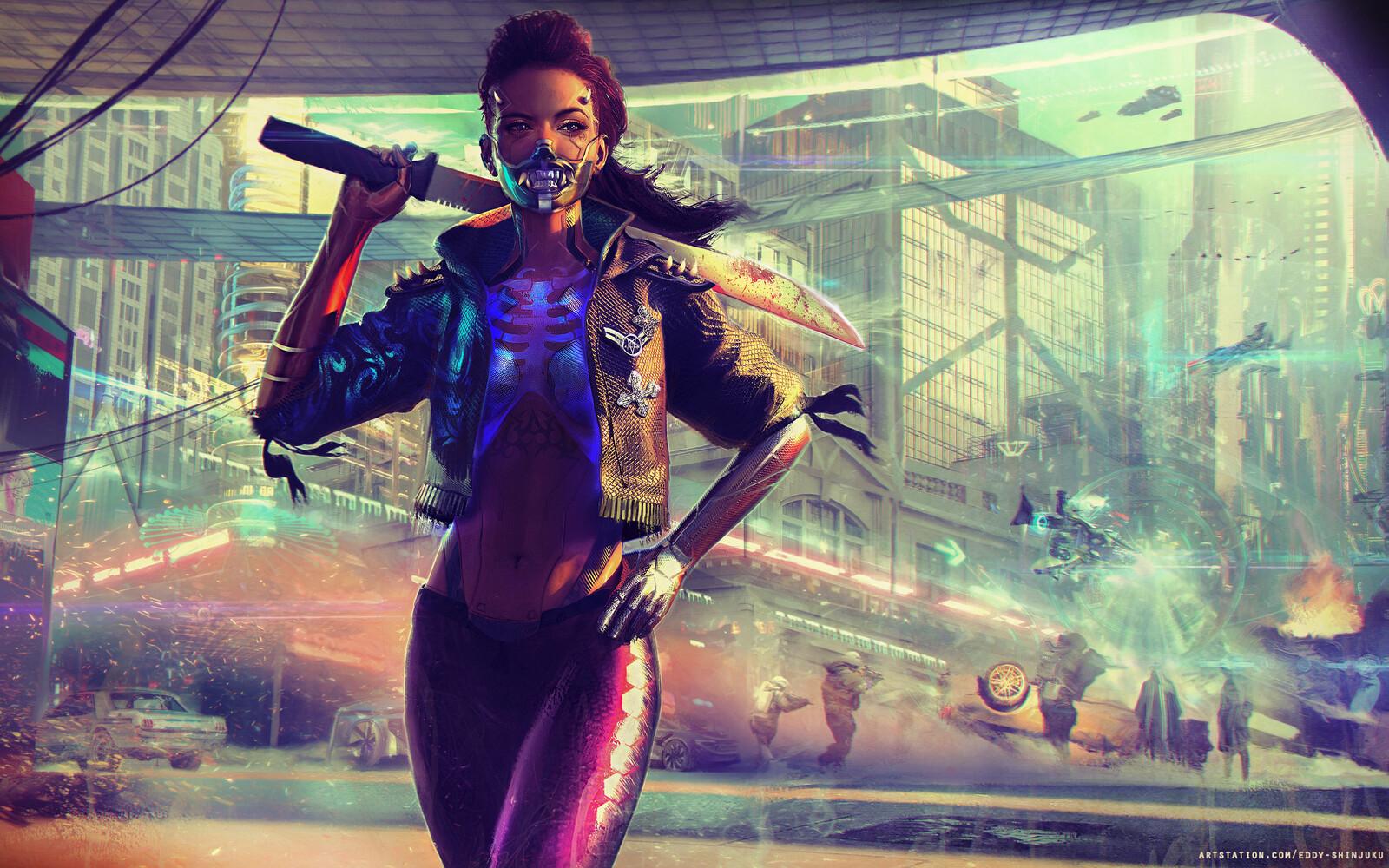 Cyberpunk Tabletop Art